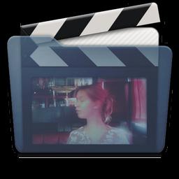 Graphite Folder Movies Alt Icon 256x256 png