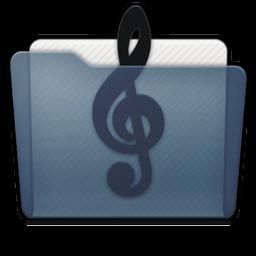 Graphite Folder Music Alt Icon 256x256 png