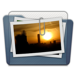 Graphite Folder Pictures Alt Icon 256x256 png