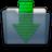 Graphite Folder Downloads Icon 48x48 png