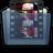 Graphite Folder Movies Icon 48x48 png