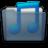 Graphite Folder Music Blue Icon 48x48 png