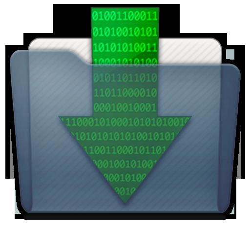 Graphite Folder Downloads Icon 512x512 png