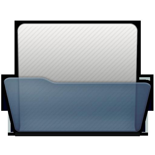 Graphite Folder Generic Open Icon 512x512 png