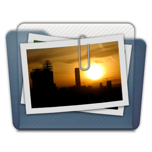 Graphite Folder Pictures Alt Icon 512x512 png