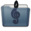 Graphite Folder Music Alt Icon 64x64 png