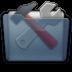 Graphite Folder Utilities Icon 72x72 png