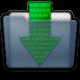 Graphite Folder Downloads Icon 80x80 png