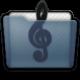 Graphite Folder Music Alt Icon 80x80 png