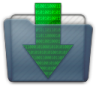 Graphite Folder Downloads Icon 96x96 png