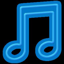 Toolbar Music Blue Icon 256x256 png