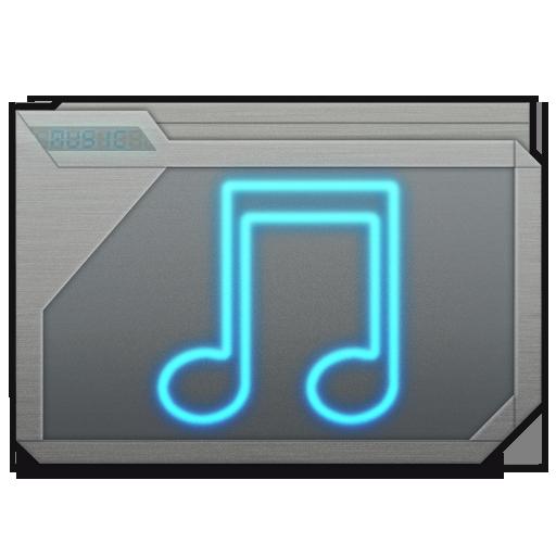 Folder Music Blue Icon 512x512 png