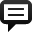 Spechbubble Sq Line Icon 32x32 png