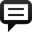 Spechbubble Sq Line Icon