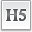 Text Heading 5 Icon