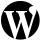WordPress Black Icon 40x40 png