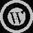 WordPress Silver Icon