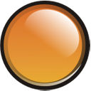 Orange Orb Icon 128x128 png