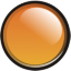 Orange Orb Icon 64x64 png