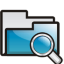 Folder Search Icon 64x64 png