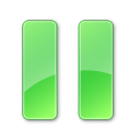 Plain Green Pause Pressed Icon