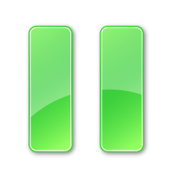 Plain Green Pause Pressed Icon 256x256 png
