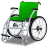Wheelchair Green Icon