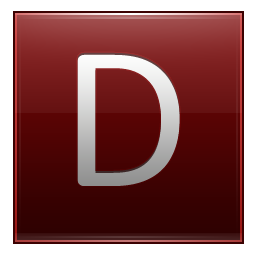 D Red Icon 256x256 png