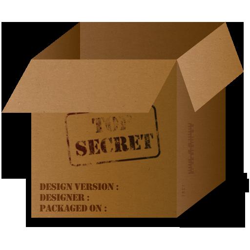 Box Top Secret Icon 512x512 png