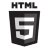 HTML5 Black Logo Icon
