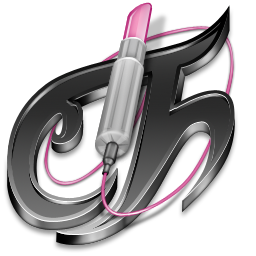 Tecno Chica Blog Black Icon 256x256 png