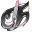 Tecno Chica Blog Black Icon 32x32 png
