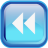 Blue Rewind Icon
