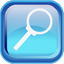 Blue Search Icon 64x64 png