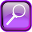 Violet Search Icon 64x64 png