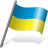 Ukraine Flag 3 Icon 48x48 png