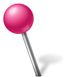 Map Marker Ball Left Pink Icon 256x256 png