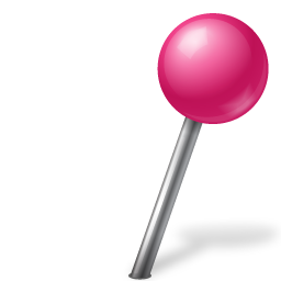 Map Marker Ball Right Pink Icon 256x256 png