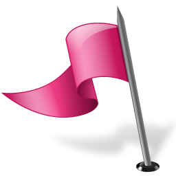 Map Marker Flag 3 Left Pink Icon 256x256 png