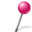 Map Marker Ball Right Pink Icon 64x64 png