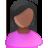 User Female Black Pink Black Icon