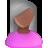 User Female Black Pink Grey Icon