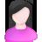 User Female White Pink Black Icon