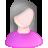 User Female White Pink Grey Icon